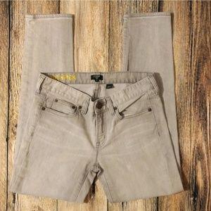 JCrew Gray Toothpick Skinny Jeans 26